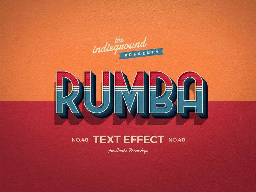 Retro Vintage Text Effect N 40 Indieground Design Retro Text Vintage Text Text Effects