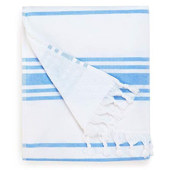 Turkish Beach Towel By Laguna Beach Textile Co In Sky Blue