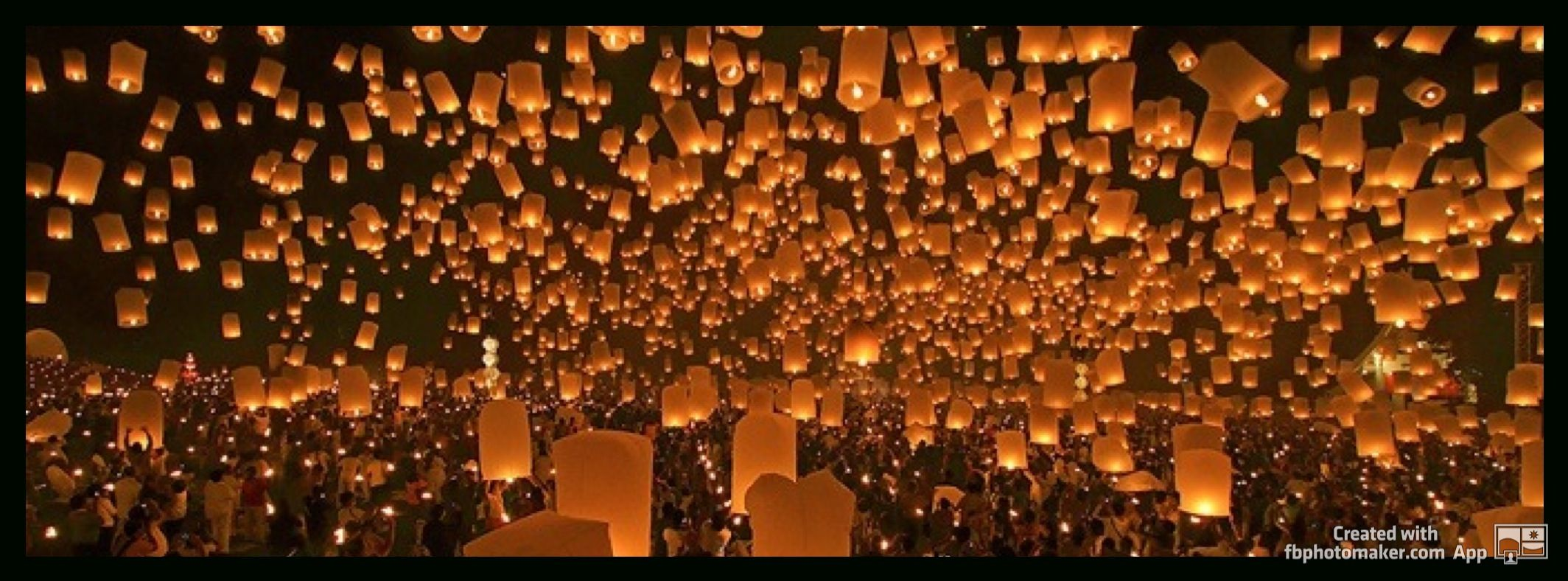 Lanterns, beautiful, orange and black - facebook cover photo, fb covers