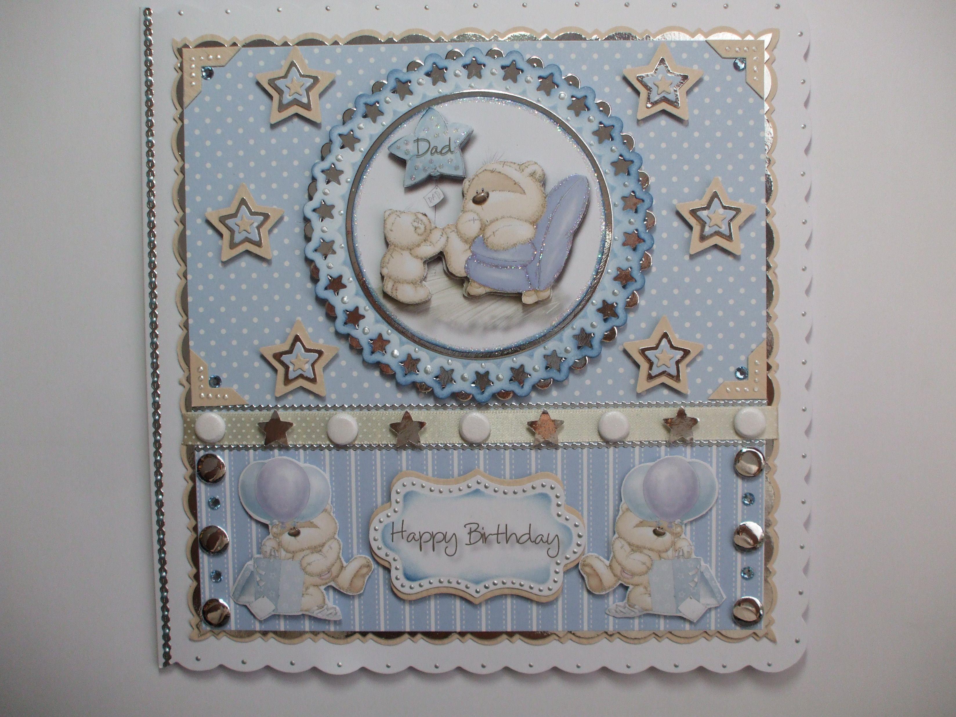 handmade fizzy moon birthday card for male  cards
