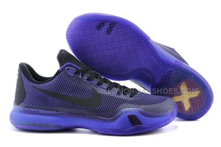 Nike Kobe 10 X Blackout Laker Purple Black Persian Violet, Price ...