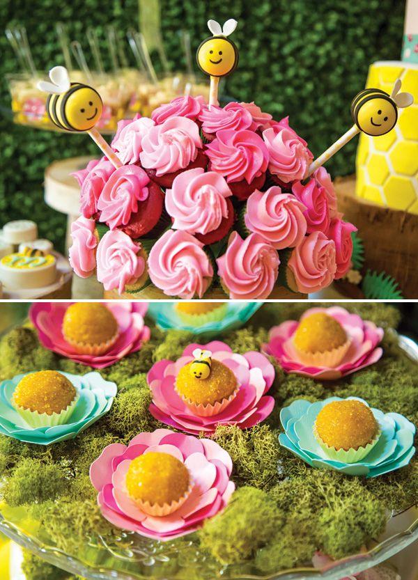 Secreto fiesta de cumpleaños Primera Bumblebee Jardín