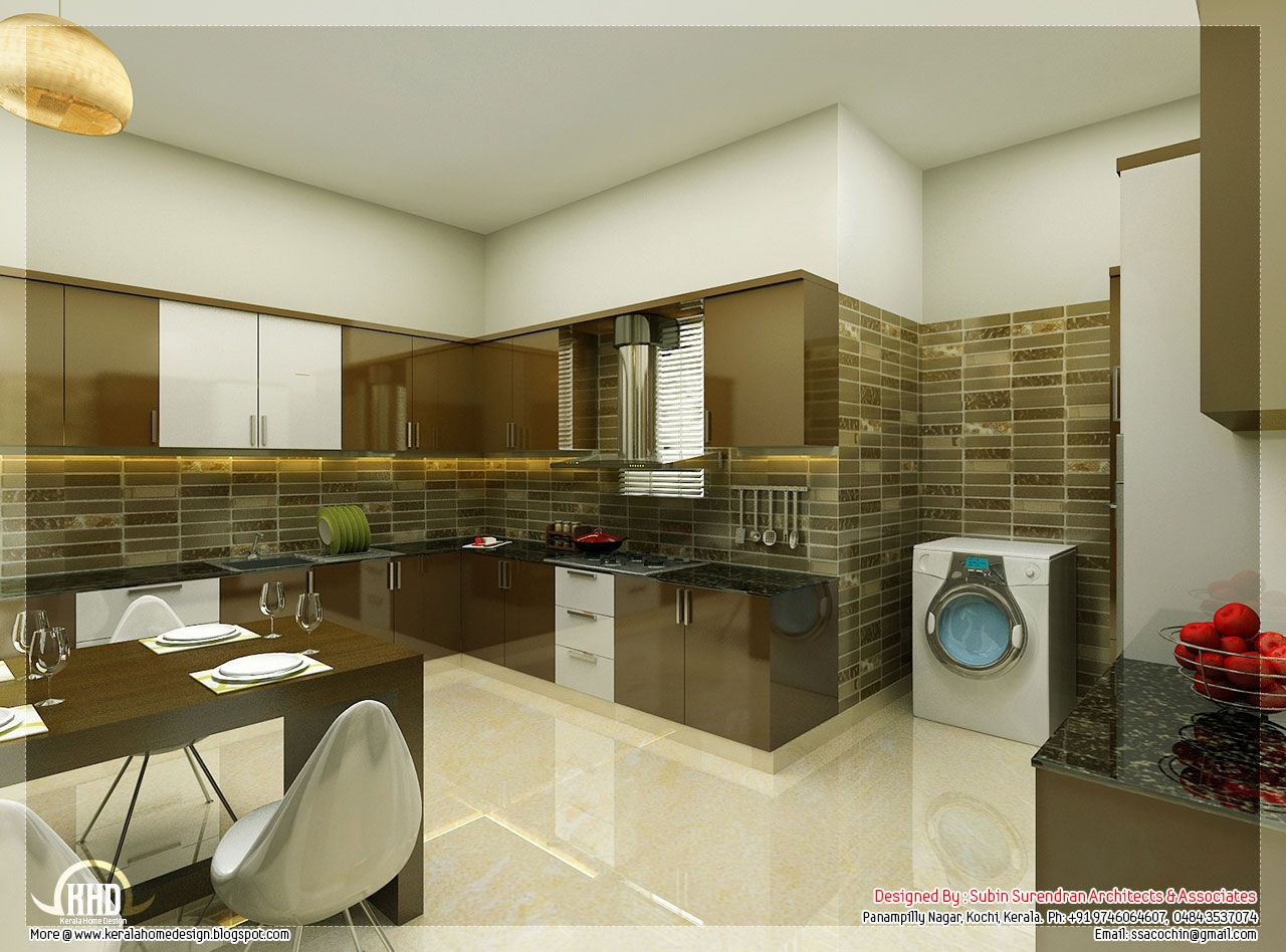 Beautiful interior design ideas kerala home floor plans for Modern kitchen designs in kerala