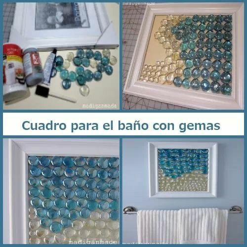 Cuadro para el ba o con gemas good ideas pinterest - Cuadros de bano ...
