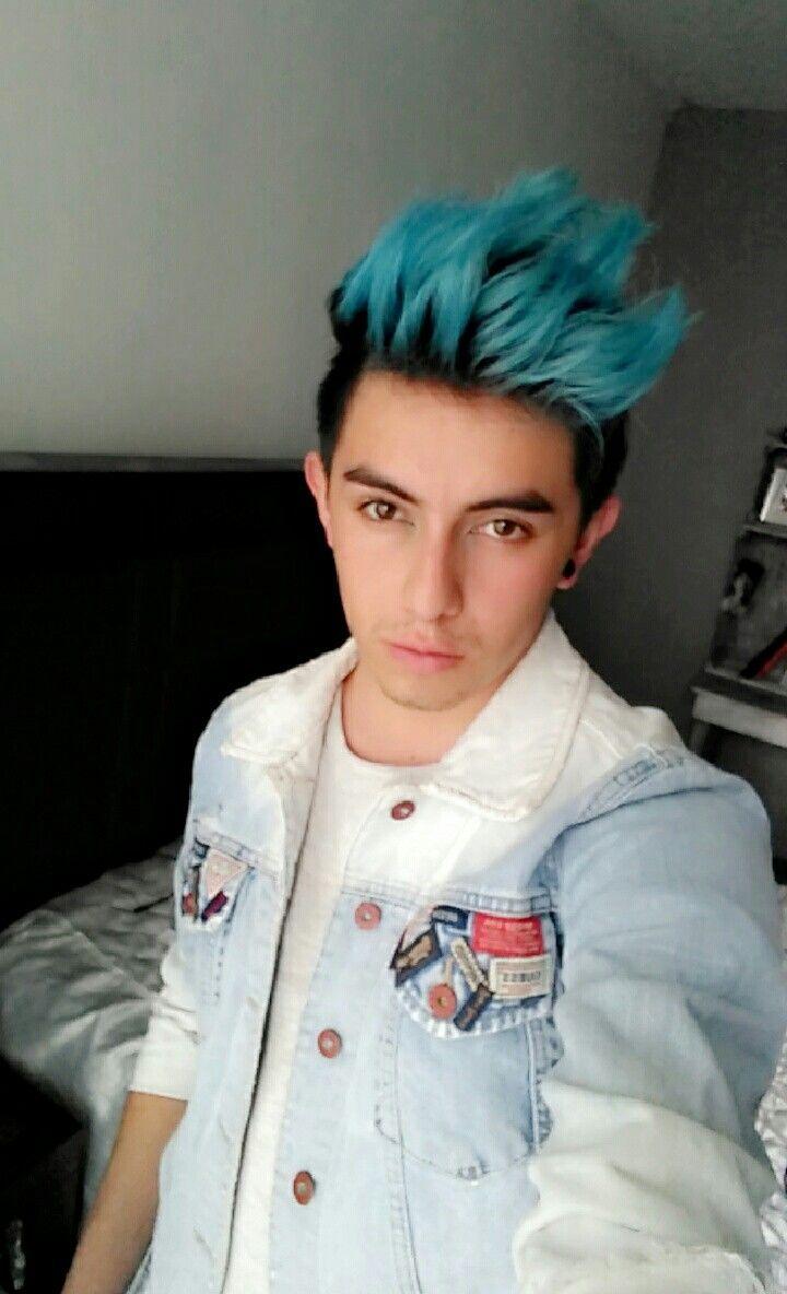 Cabello Azul Hombre Blue Hair Boy Cabello Azul Pelo Azul Cabello