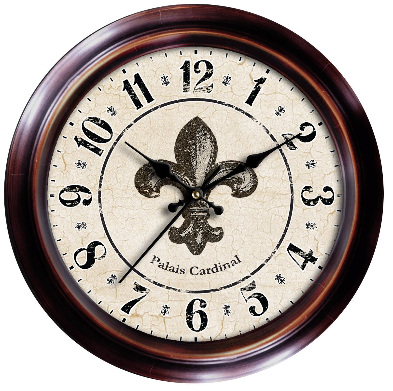 "Found it at Wayfair Decorative Home 18"" Fleur de Lis Wall Clock"