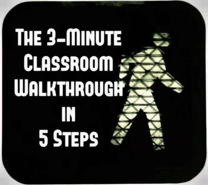 Classroom Walkthrough Educational Leadership Pinte