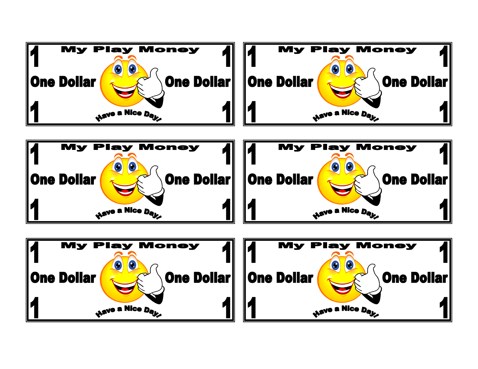 Printable Toy Money : Kids play money printable holiday fun for the girls