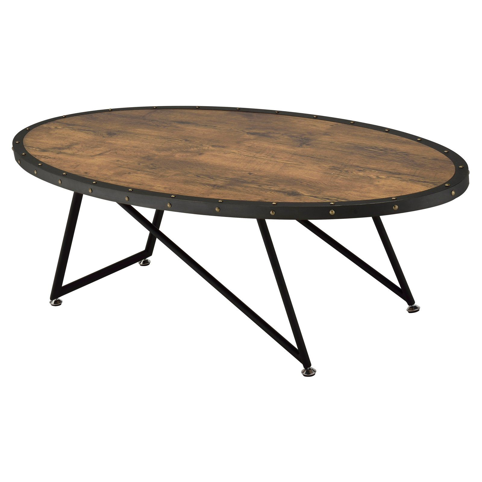 - ACME Allis Wooden Coffee Table Oval Coffee Tables, Buy Coffee