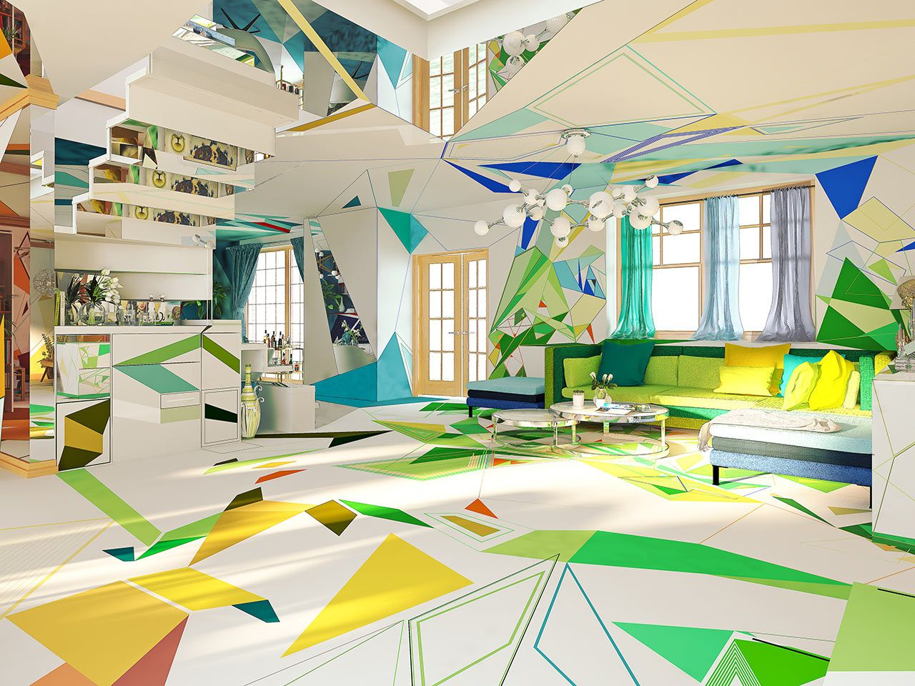 A Colorful Geometric Wonderland That Might Feel Like You Ve