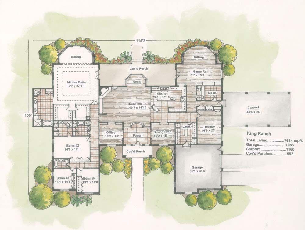 Runner Up For Best Log Plan Over 2 500 Square Feet House Floor Plans Ranch House Plans Mansion Floor Plan