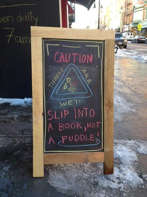Word Bookstore, Jersey City, NJ | 15 Hilarious Bookstore Chalkboards