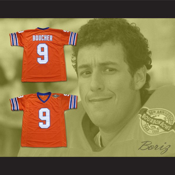 413ebe152d4 Adam Sandler Bobby Boucher The Waterboy Mud Dogs Football Jersey with  Bourbon Bowl Patch - borizcustom - 4