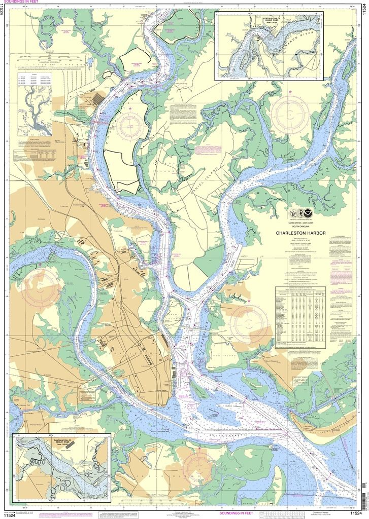 Noaa Nautical Chart 11524 Charleston Harbor