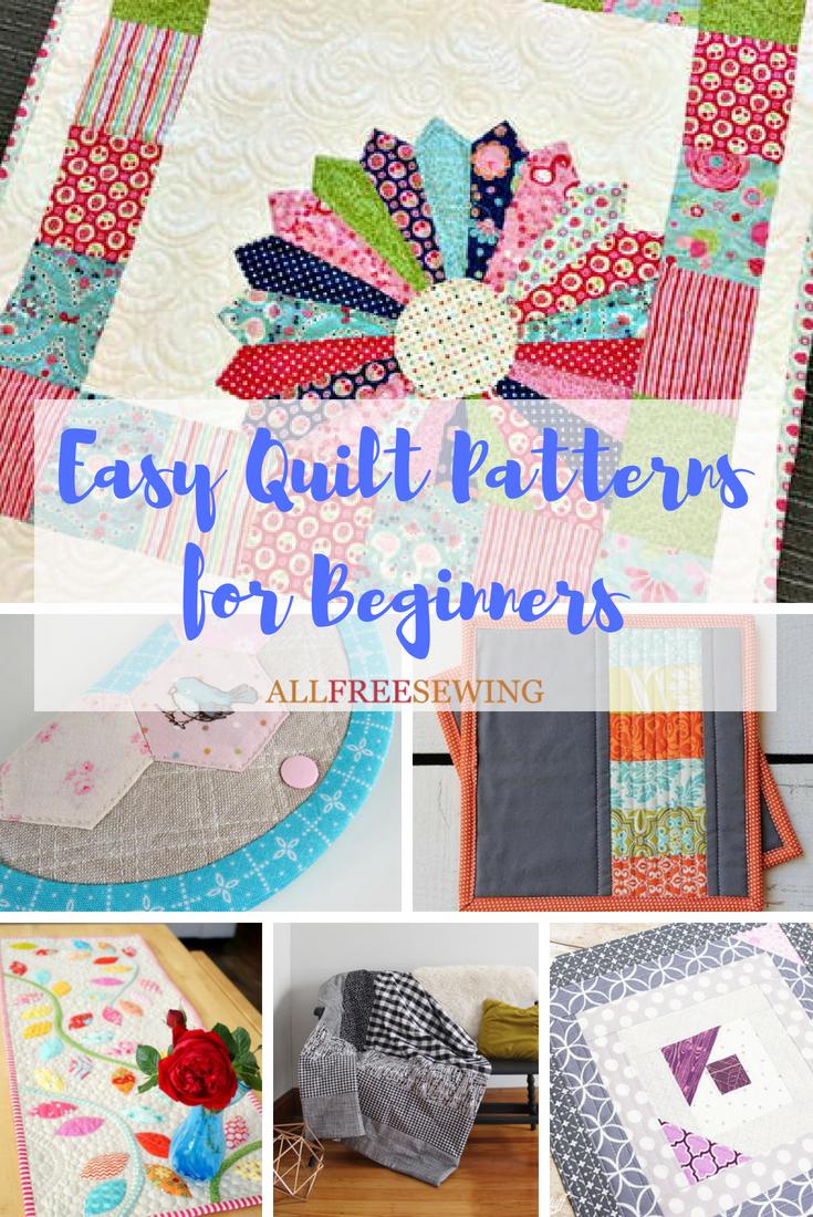 45 Easy Quilt Patterns For Beginners Beginner Quilt Patterns Easy Quilts Easy Quilt Patterns