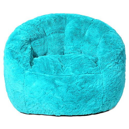 Faux Fur Bean Bag Chair - Teal | ToysRUs  sc 1 st  Pinterest & Faux Fur Bean Bag Chair - Teal | ToysRUs | girl room ideas ...