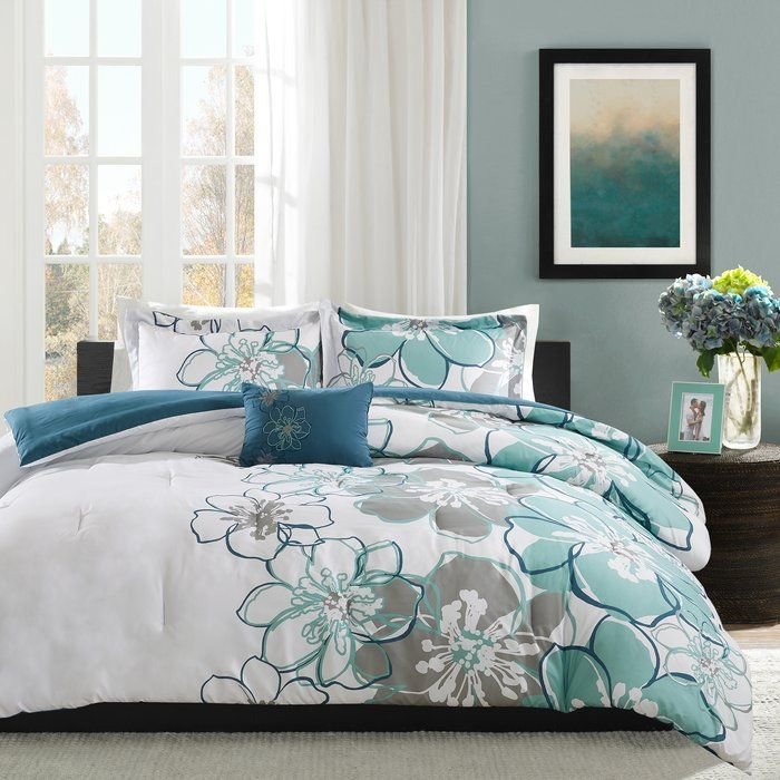 The Dazzling Comforter Set Can Help Brighten Up Your Room In An Instant This Multi Colored Set Has A Vivid Flor Bed Comforter Sets Comforter Sets Bedding Sets
