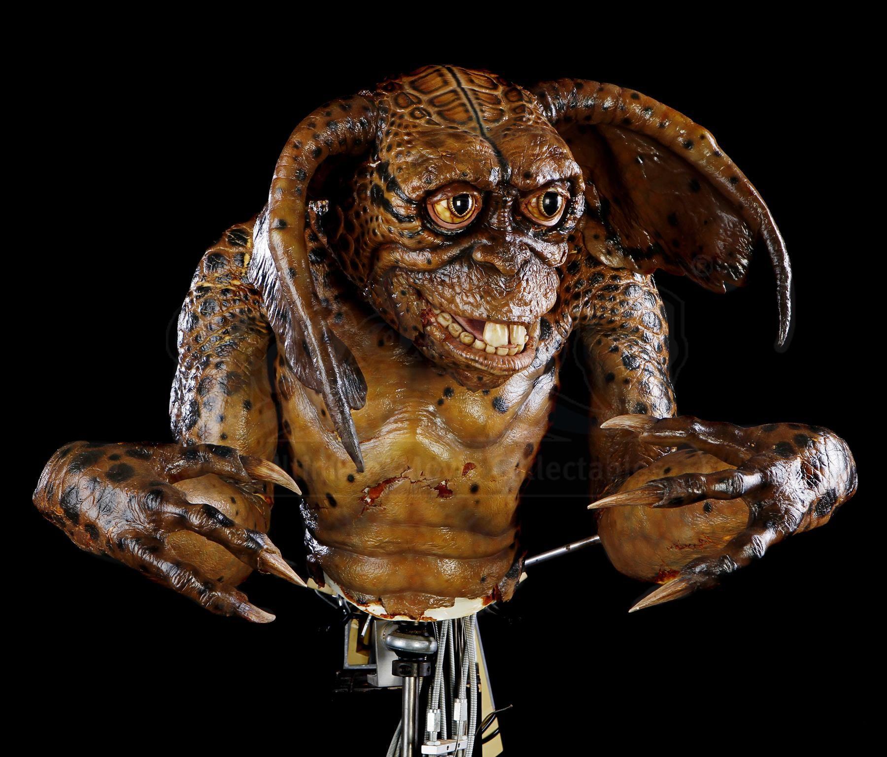 GREMLINS 2: THE NEW BATCH (1990) - Mechanical Lenny Gremlin Puppet - Price Estimate: $4000 - $6000