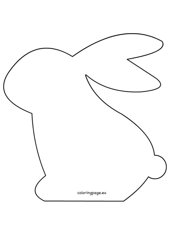 Felt easter bunny pattern pinteres for Bunny template for sewing
