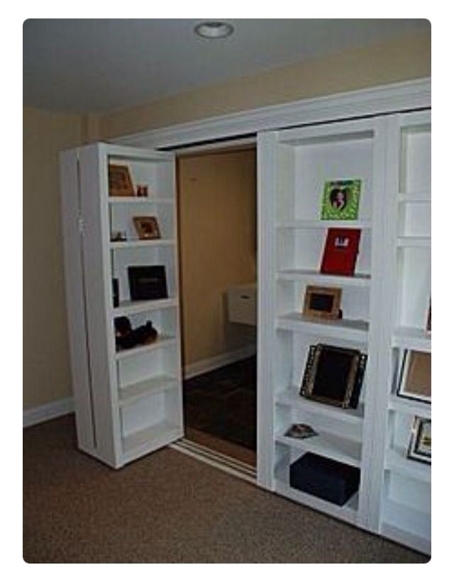 Genial Bookshelf Closet Doors