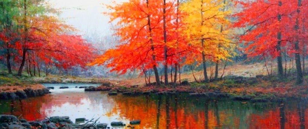 cuadros modernos pinturas paisajes horizontales cuadros