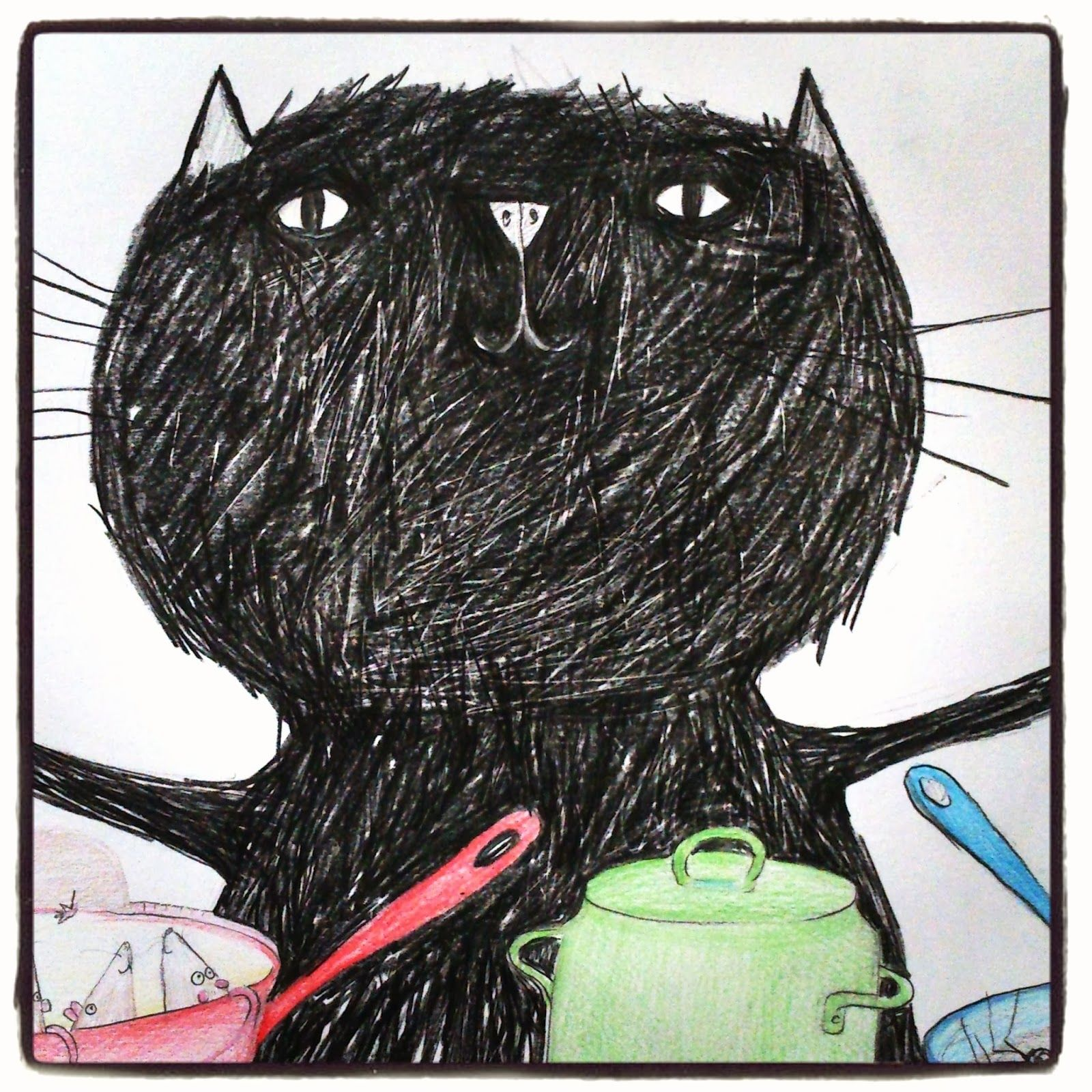 A+hungry+cat+Hazel+Terry.jpg (1600x1600 píxeles)