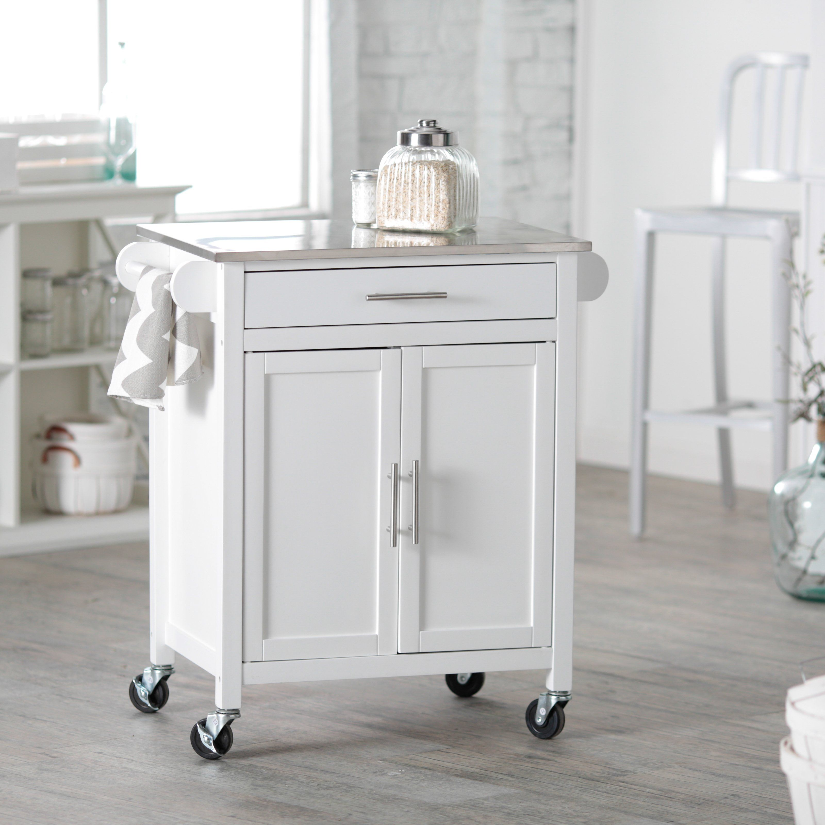 Have to have it. Belham Living White Mid-Size Kitchen Island with ...