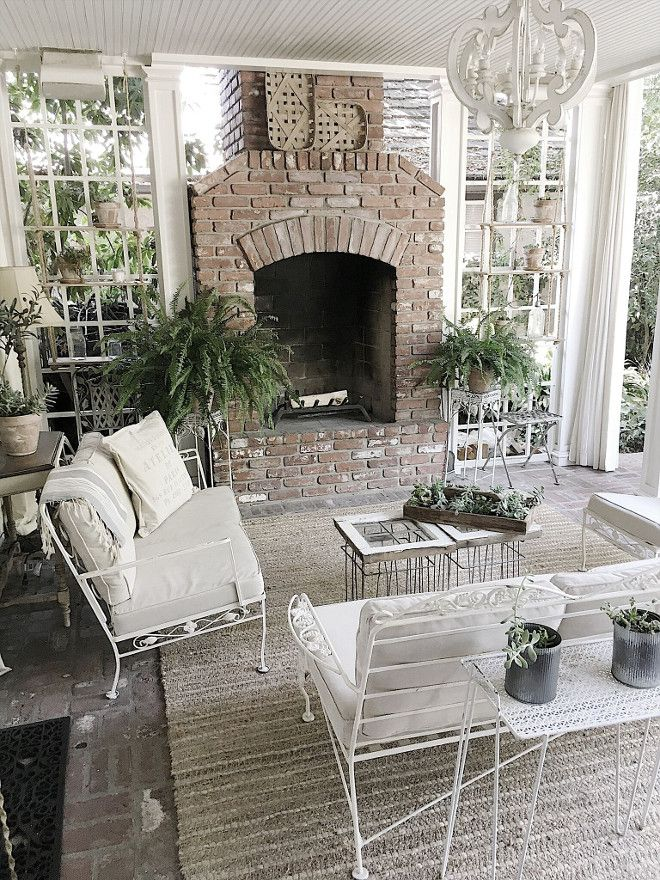 Fixer Upper Farmhouse Back Porch Ideas The Is Used Just Like Another Room In Our Home With Fireplace And Heaters Ceiling