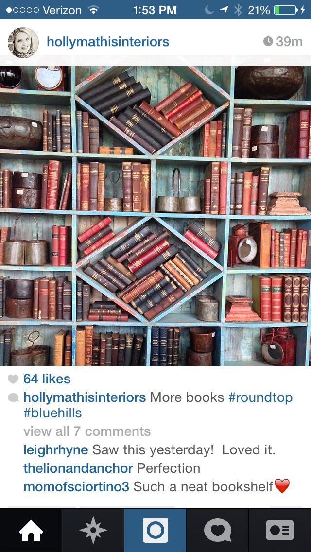 Love these bookshelves