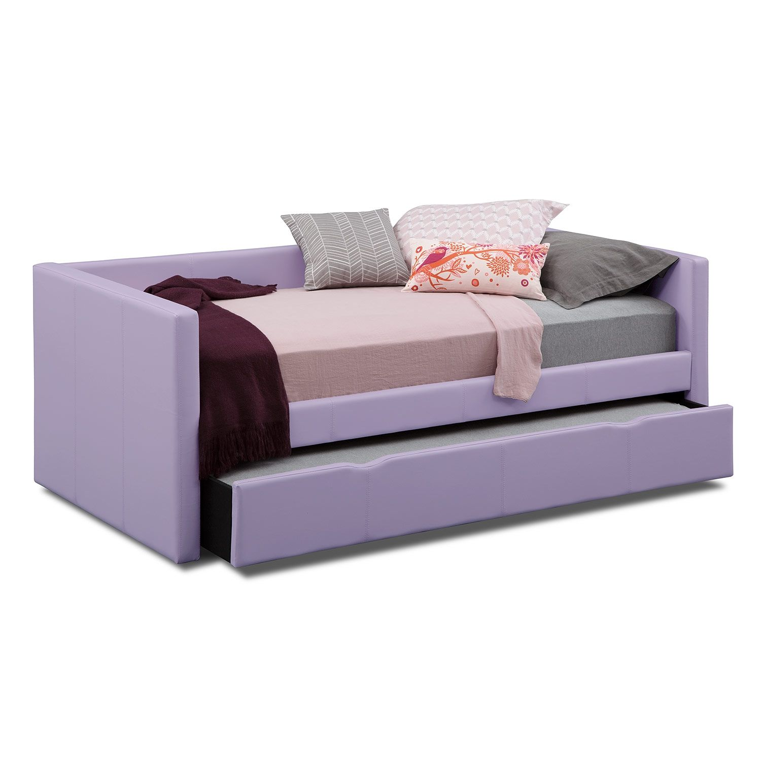 Carey Purple Full Daybed With Trundle Value City Furniture With