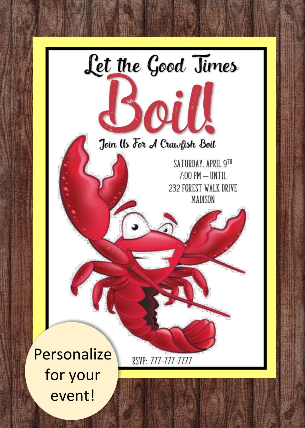 CRAWFISH BY THE POUND BANNER Sign NEW Larger Size Best Quality for the $$$