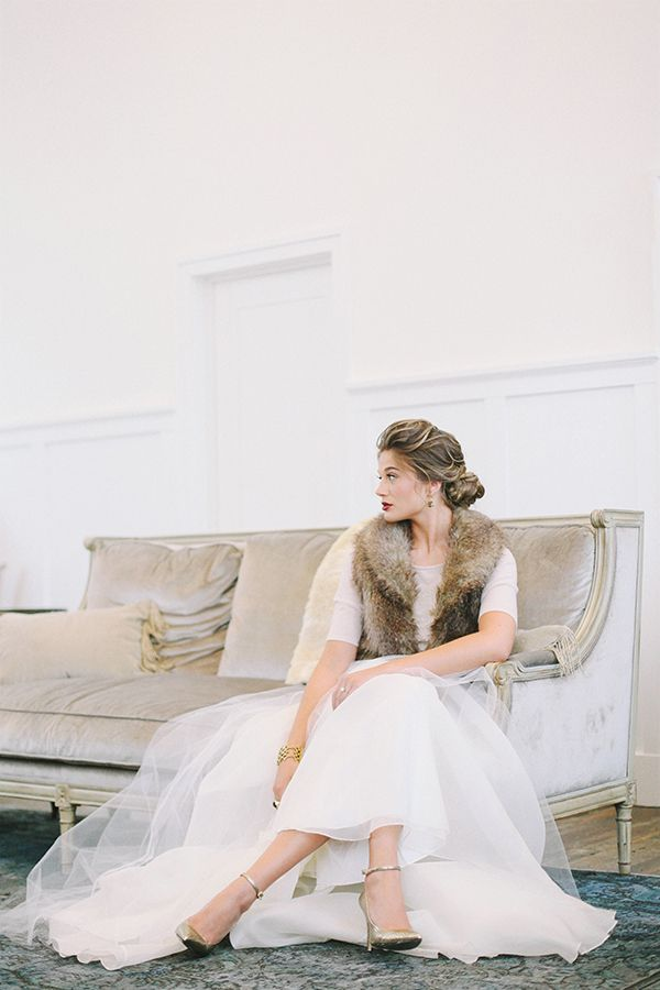 A truly enchanting woodland wedding shoot from