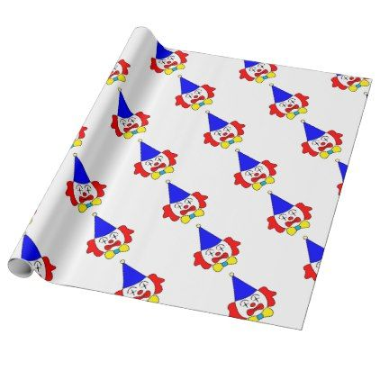 clown funny face wrapping paper christmas wrappingpaper xmas diy holiday - Funny Christmas Wrapping Paper