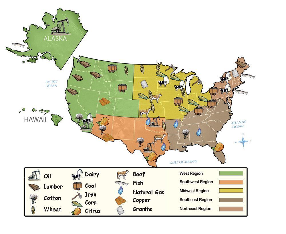 US Resource Map STUTY STUFF Pinterest