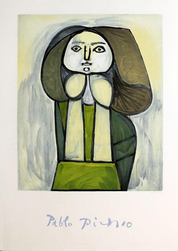 Verte Robe A De Picasso Pablo La Portrait Femme wS0vSqYT