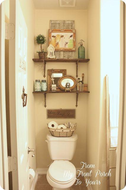 half bath changes d coration pinterest les toilettes tablette et salle de bains. Black Bedroom Furniture Sets. Home Design Ideas