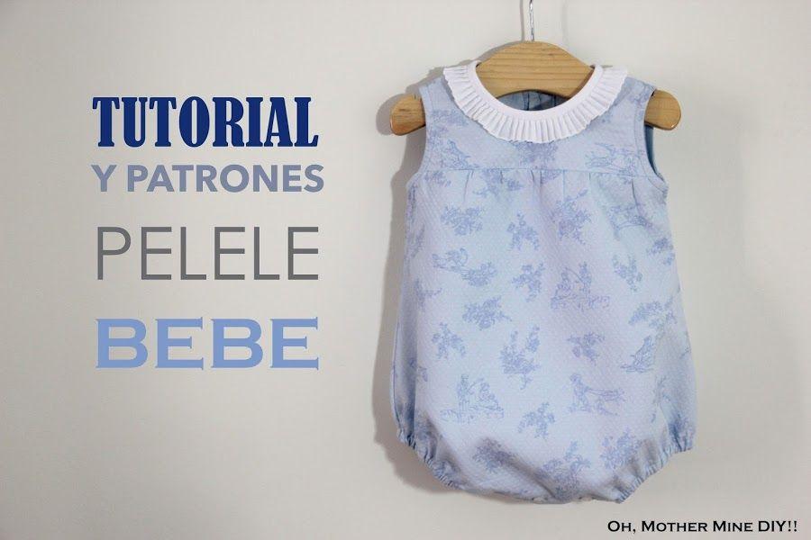 Tutorial y patrones gratis: Pelele para bebé | Patrón gratis, Para ...