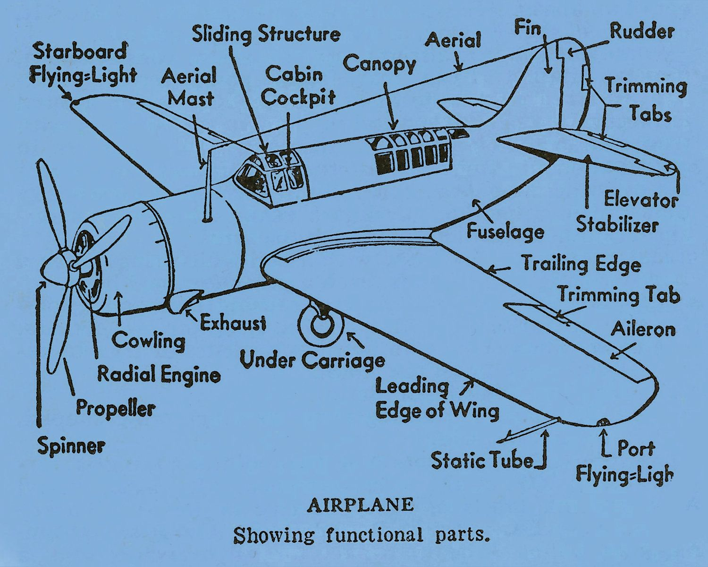 Incredible Airplane Diagram Functional Parts Flying Green Blue 8 X 10 Print Wiring 101 Tzicihahutechinfo