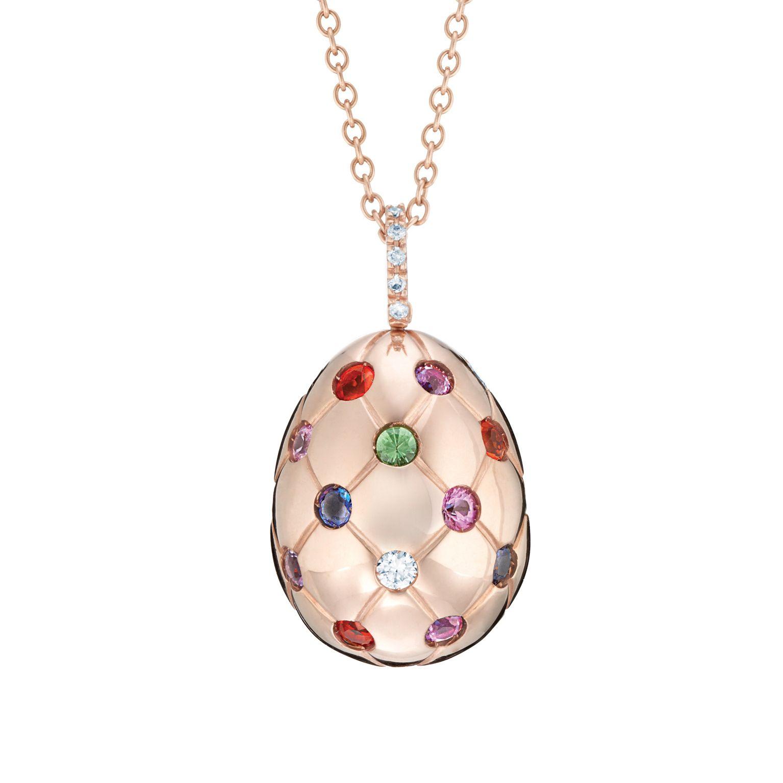 0297c1ff1 Fabergé Treillage Multi coloured Rose Gold Polished Pendant #Fabergé # Treillage #pendant