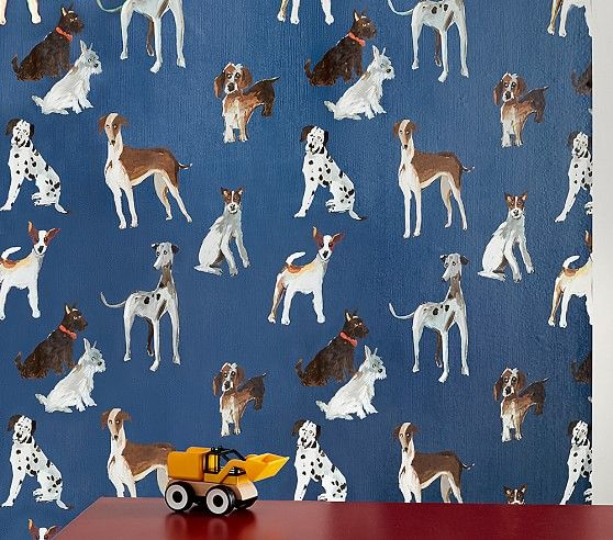 Black And White Dogs Wallpaper Peel And Stick Wallpaper Wall Etsy Wall Wallpaper Dog Wallpaper Self Adhesive Wallpaper