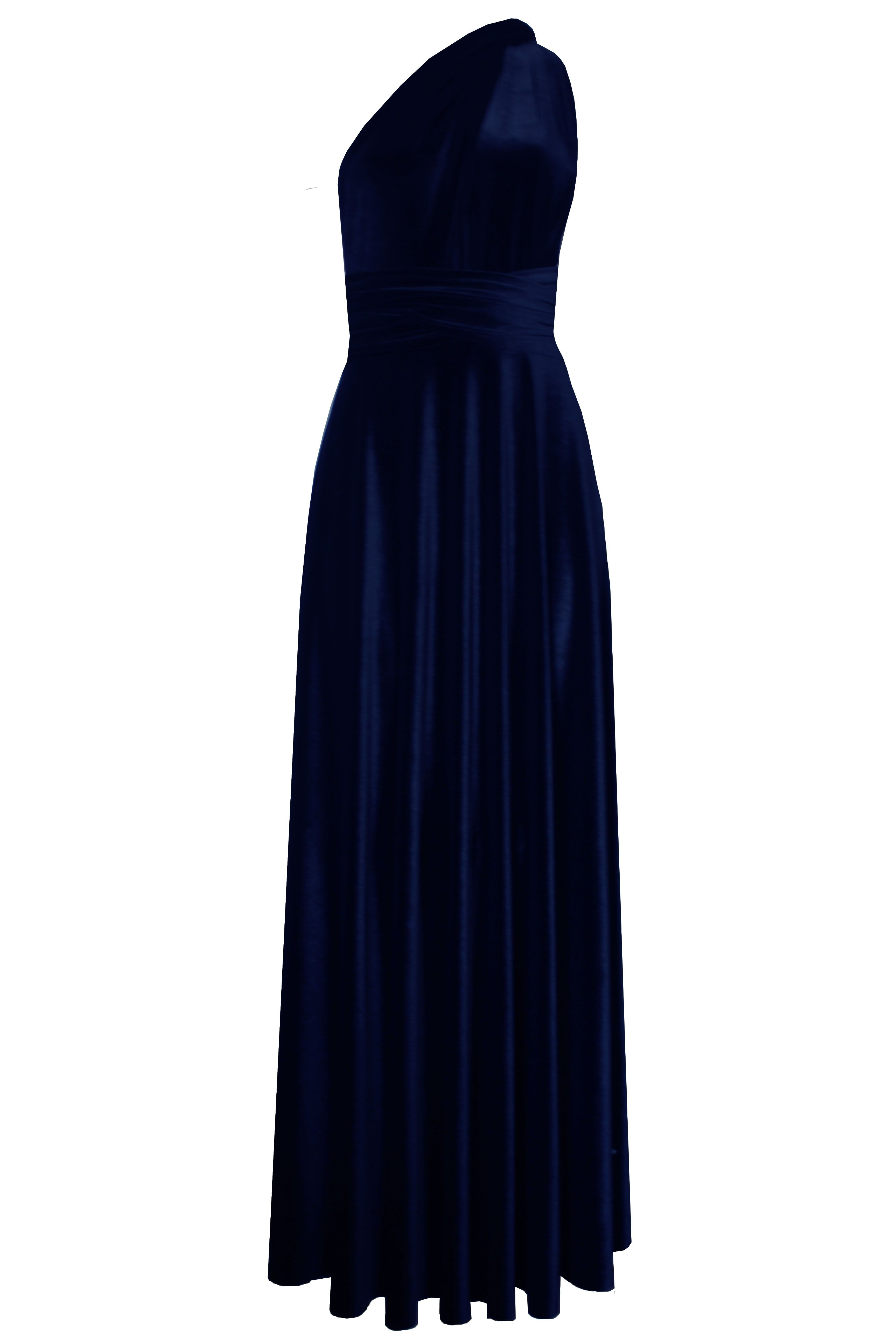 caed2df298f4 EK - Convertible velvet dress Bridesmaids infinity dress Navy blue multi  wrap dress Long plus size prom gown Formal maternity dress XS-5XL