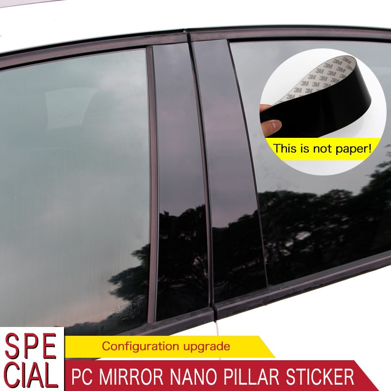 Car Window Pillars Decal Stickers Trims Fit For Valkswagen Lavida