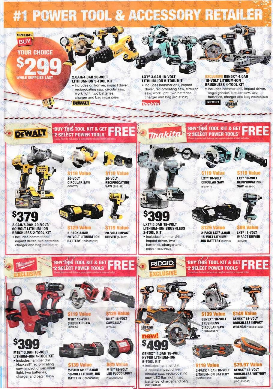 Home Depot Black Friday 2017 Ad Scan Deals And Sales Home