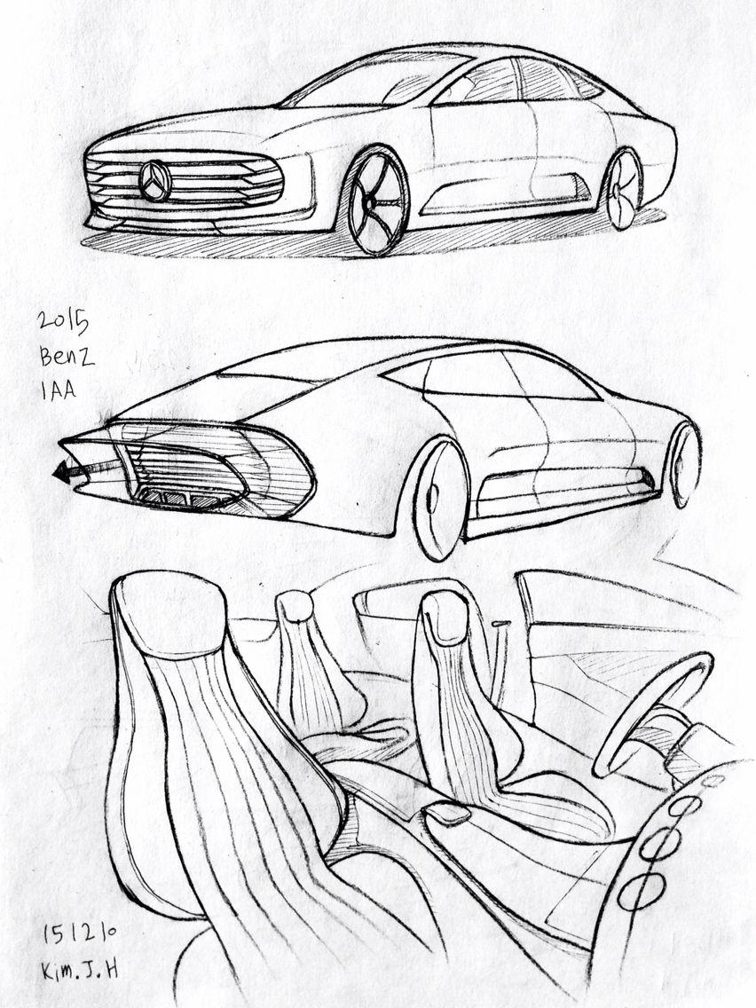 Car drawing 151210 2015 Benz IAA. Prisma on paper. Kim.J.H   cars ...