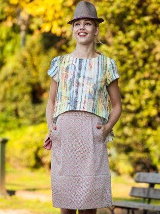 101A-032016-B, burda style, A-Linien-Rock, Nähen, DIY | Skirts ...