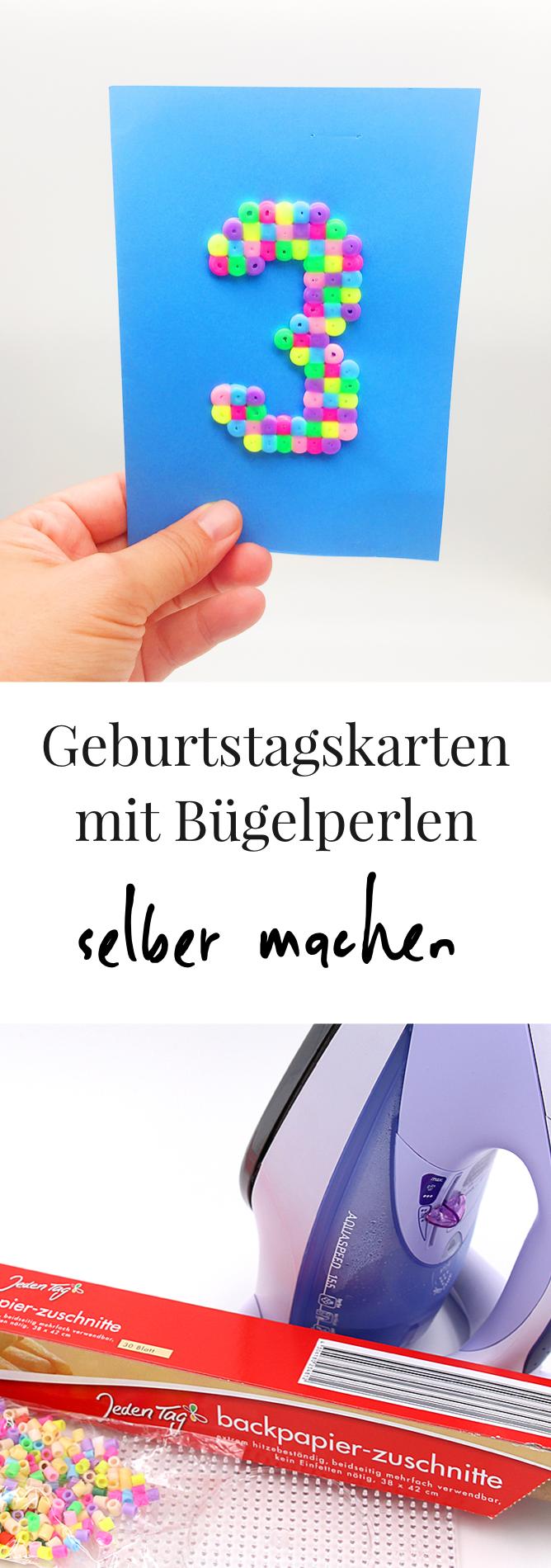 Basteln mit Bügelperlen - schöne Geburtstagskarten Vorlagen ...