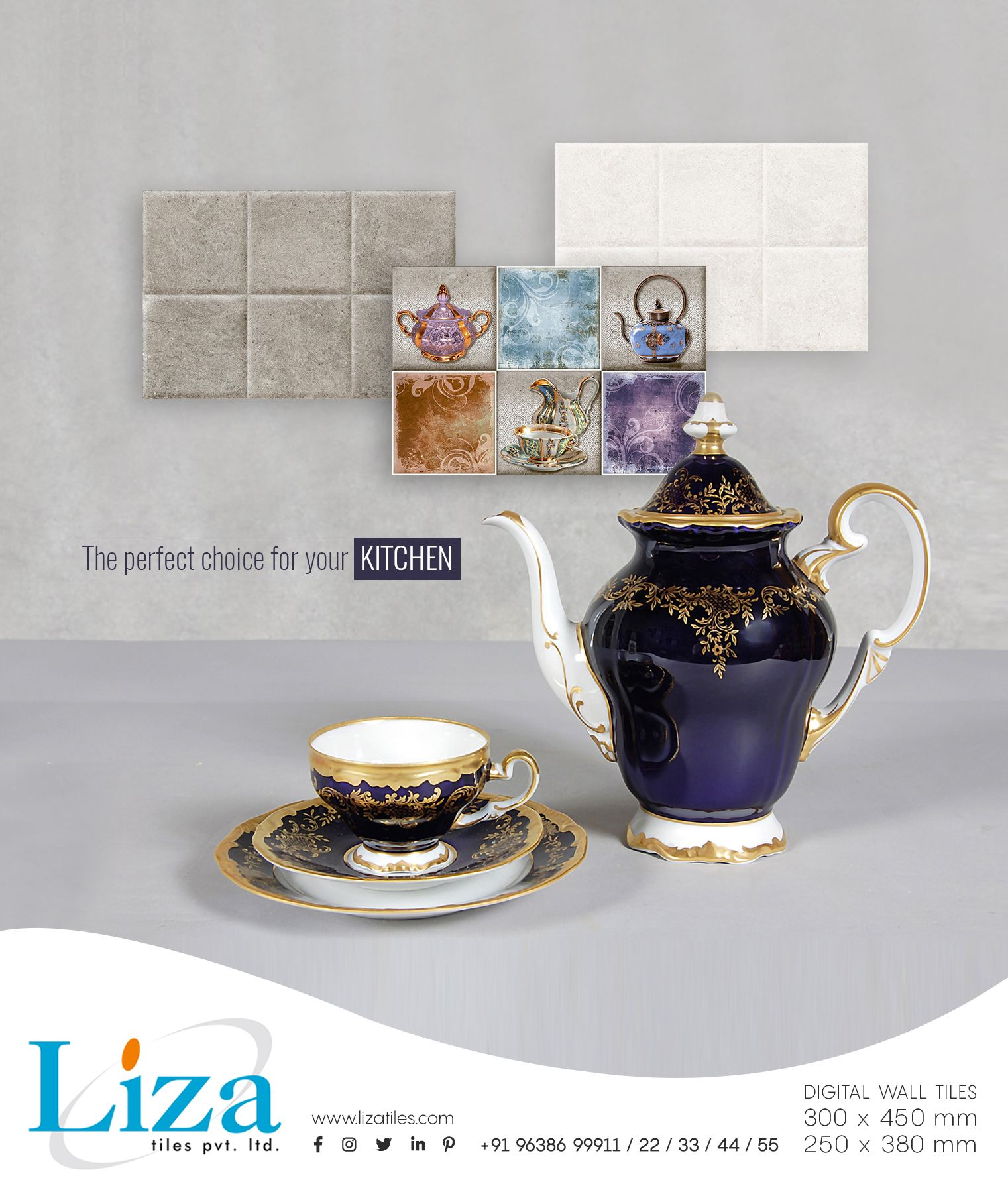 Lizza Tiles The Perfect Choice For Your Kitchen 300x450mm 250x380mm Digitalwalltiles Homedecor Lizadesigns Lizati With Images Tiles Wall Tiles Interior Tiles