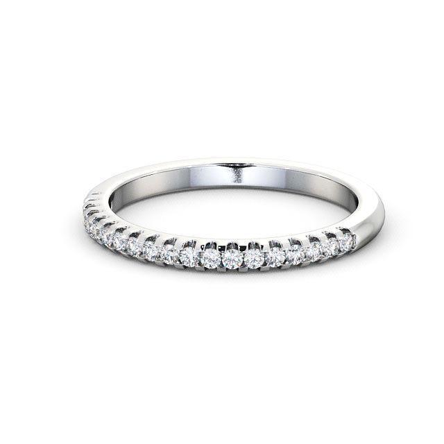 IGI Certificate Round Diamond Micro Half Eternity Wedding