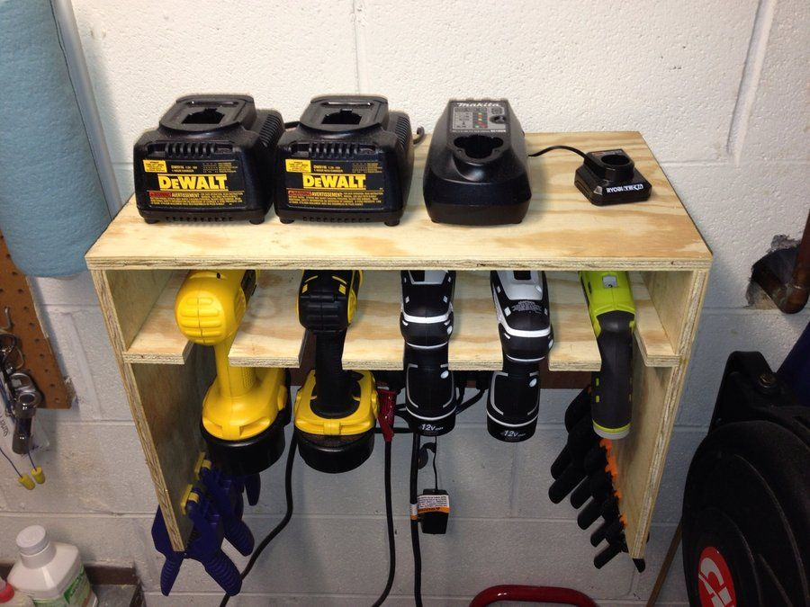 Cordless Drill Storage Charging Station By Tyler3340