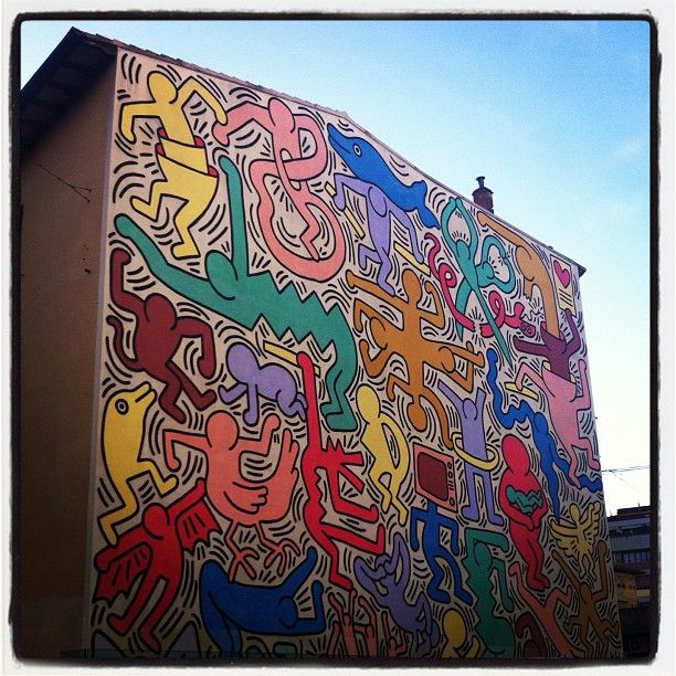 Tuttomondo by Keith Haring @ #Pisa
